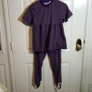 Girls 2 piece shirt leggings LG 12/14